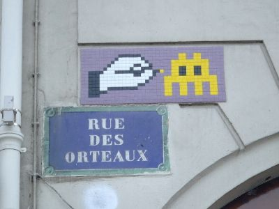 Space Invader Paris 19 eme