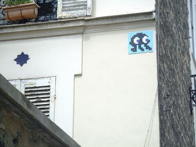 Space Invader cité aubry Paris 19 eme