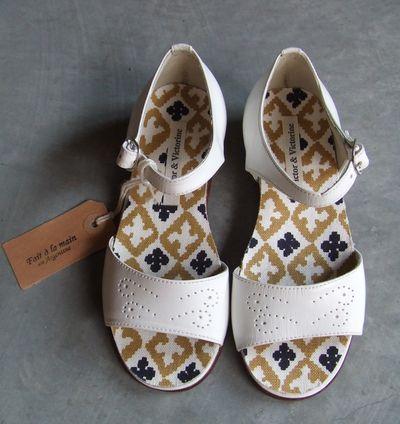 Nu-pieds Marguerite blanc
