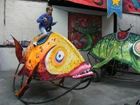 Arthur à dos de poisson