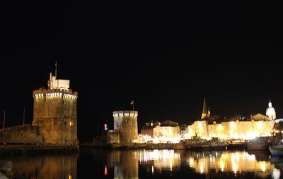 Port de La Rochelle la nuit