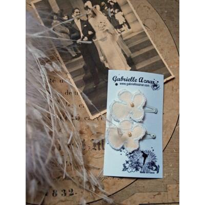 Gabrielle azenar barrettes fleurs lilli bulle