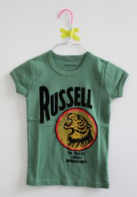 Bellerose tee shirt green russell