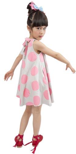Zozio robe pois pink