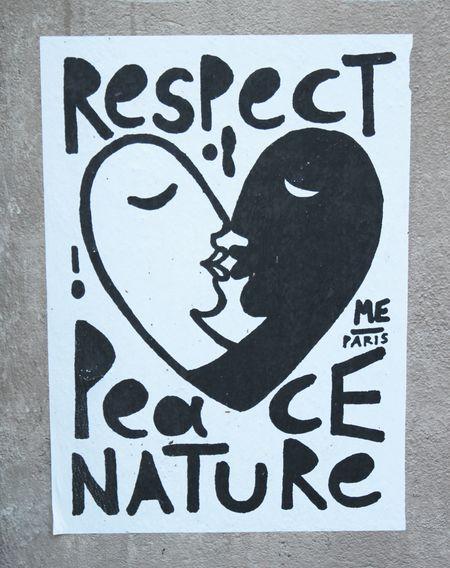 Respect peace nature me paris