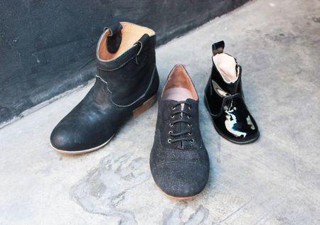 Pèpè chaussures en cuir noir  lilli bulle