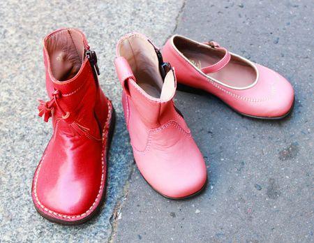 Pèpè chaussures cuir rose lilli bulle