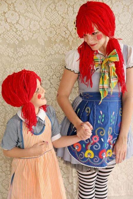 Déguisement cheveux laine rouge