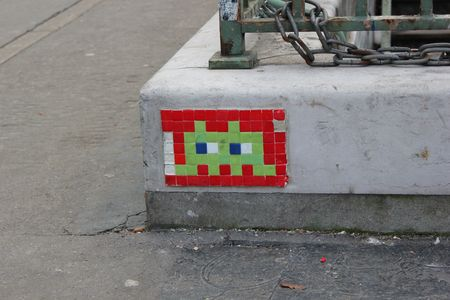 Space Invader 75014 paris fev 2012