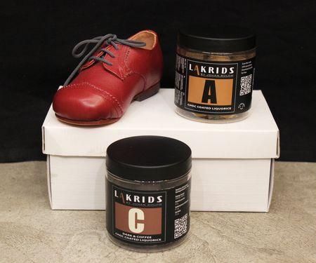 Lakrids réglisse et Lilli Bulle chaussures