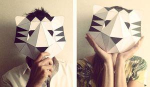 Papier tigre mask