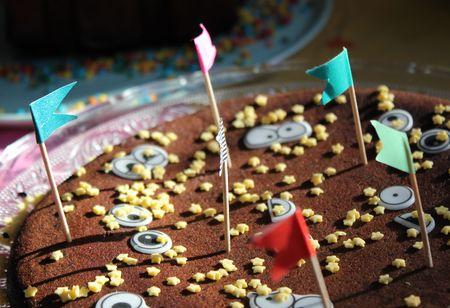 Des yeux des drapeaux du gâteau