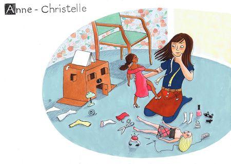 Corinne Bongrand Souvenir d'Anne-Christelle dessin