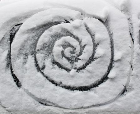 Dessiner dans la neige