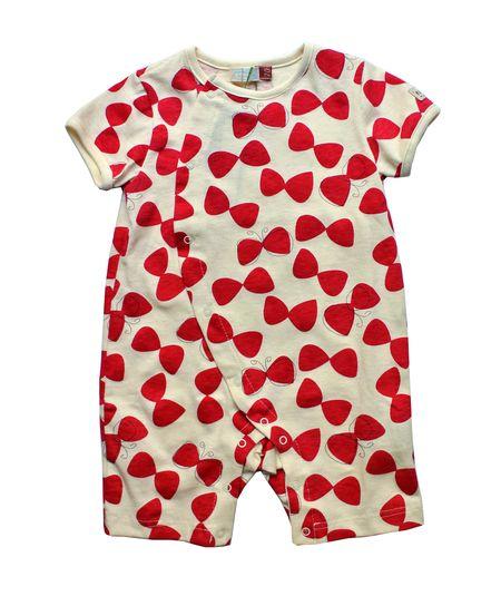 Pyjama bébé papillon framboise whip cream