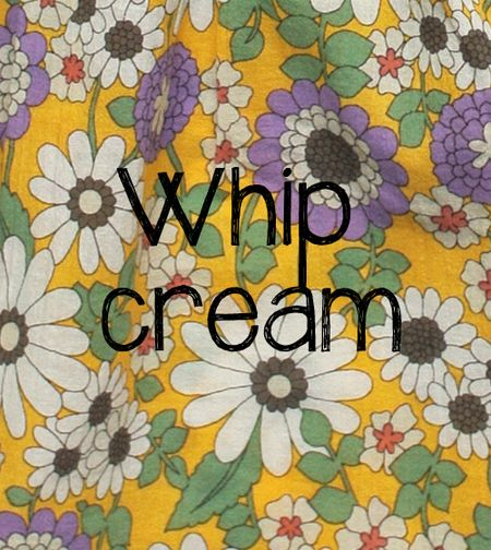 Whip cream slide