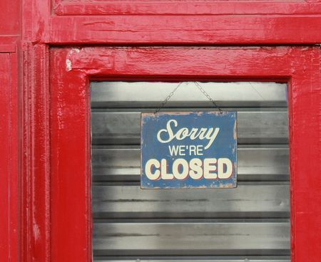 Sorry we are closed Paris