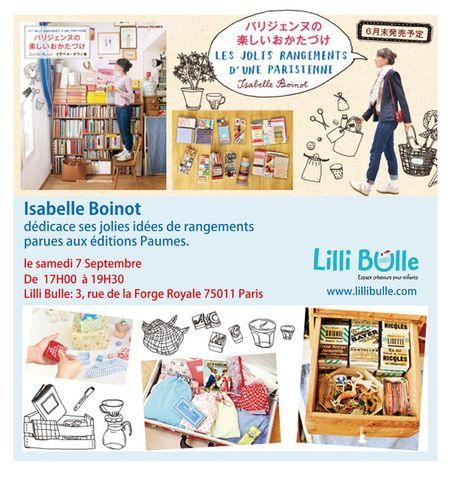 Isabelle Boinot signature Livre chez Lilli Bulle
