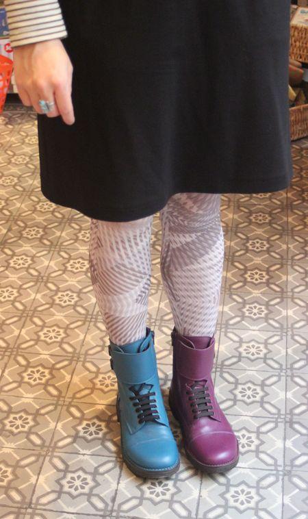 Pèpè boots deux couleurs lilli bulle