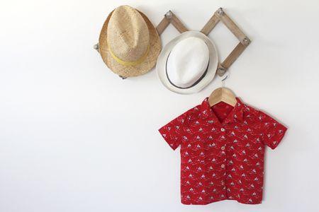 Chemise réalisée avec le tissu petits bateaux fifi mandirac