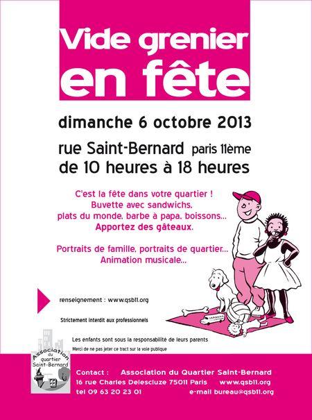 Vide grenier rue de la forge royale octobre 2013