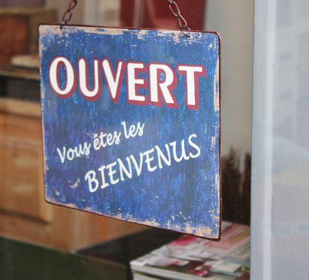 La Rochelle Panneau ouvert