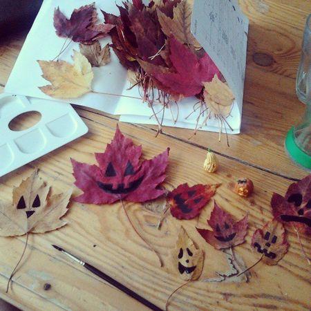 Feuille d'automne halloween gabrielle aznar