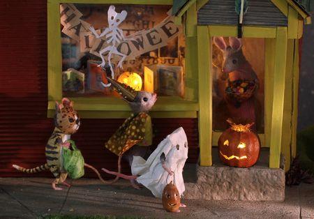 Mouse house fête halloween