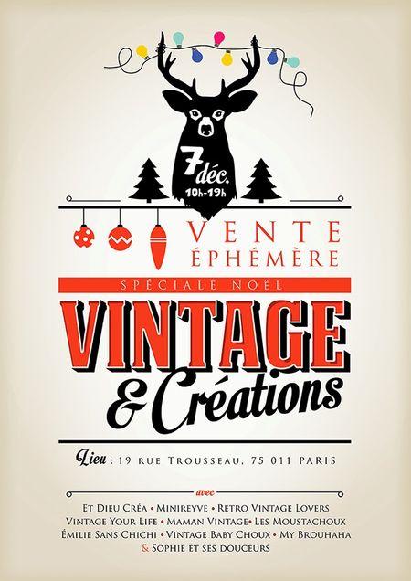 Vente éphèmere spécial Noël Vintage  et créations