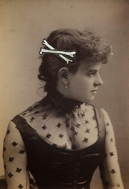 Gabrielle aznar collection accessoires dentelles trompe l'oeil