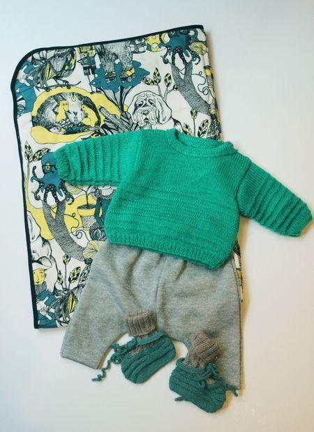 Lilli Bulle Silhouette Bébé tonalité de vert