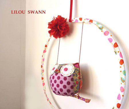 Lilou swann mobile chouette porte-bonheur