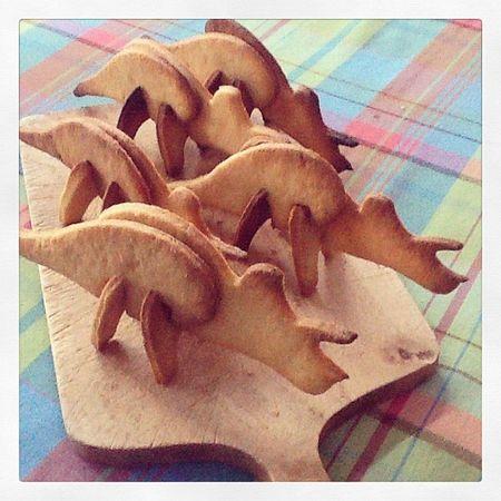 Biscuits dinosaures tricératops