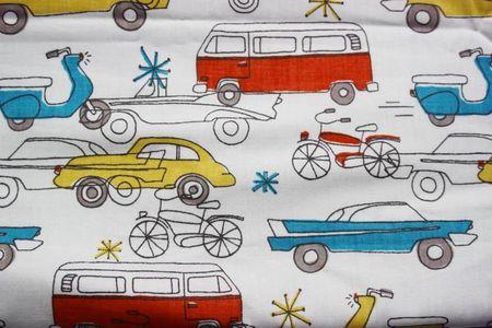 Little prince popeline motifs véhicules coton biologique