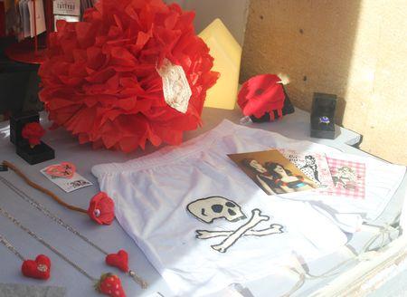 Vitrine Saint-Valentin bijoux les filantes Gabriele aznar lilli bulle
