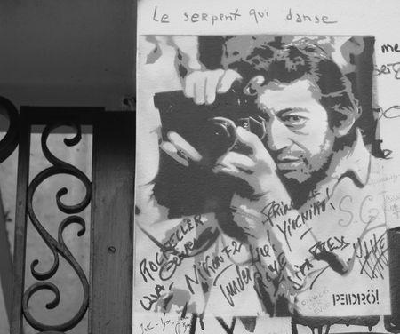 Mur gainsbourg rue de verneuil 75007 Paris pedro