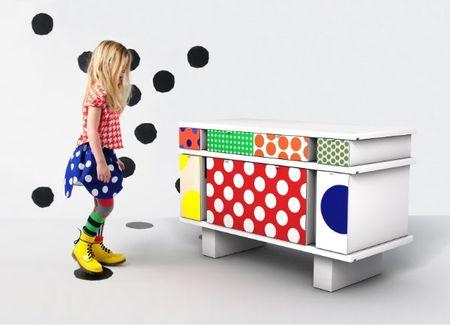 Bodebo et mobikey meubles à pois commode