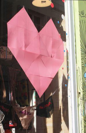 Vitrine coeur saint-valentin
