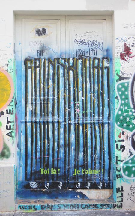 Mur gainsbourg rue de verneuil 75007 Paris