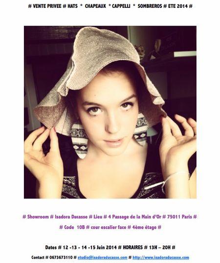 Isadora chapeaux Ventes privées