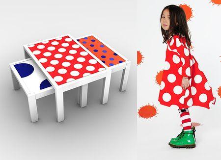 Bodebo et mobikey meubles à pois tables gigognes