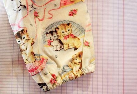 Mercilili imprimé cahier et chatons