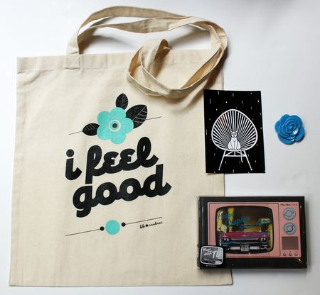 Fifi mandirac tote bag I feel good