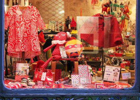 Lilli Bulle Vitrine de Noël rouge  2014