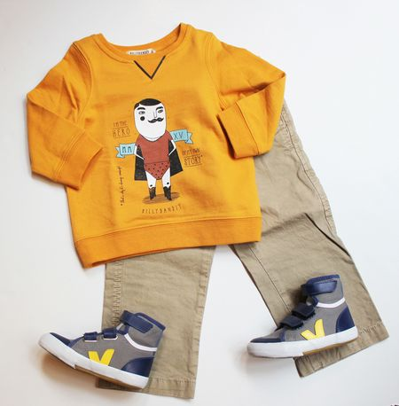 Silhouette Billy bandit sweat shirt hero jaune lilli bulle