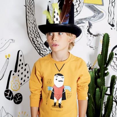 Billybandit qweat shirt super hero moutarde