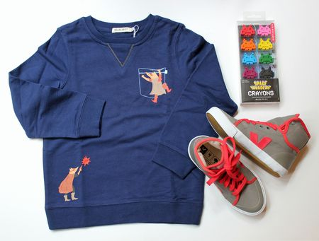 Sweat shirt billybandit tennis veja crayons space invader