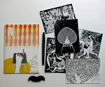 Corinne bongrand carnet et cartes postales chez Lilli Bulle