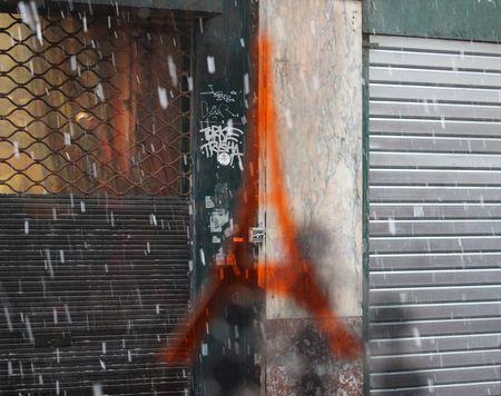 Paris sous la neige fondue