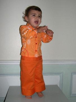 Paula_simon_chemise_et_pantalon_orange